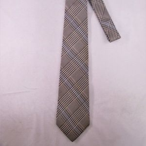Christian Dior Men's Glen Plaid Silk Tie